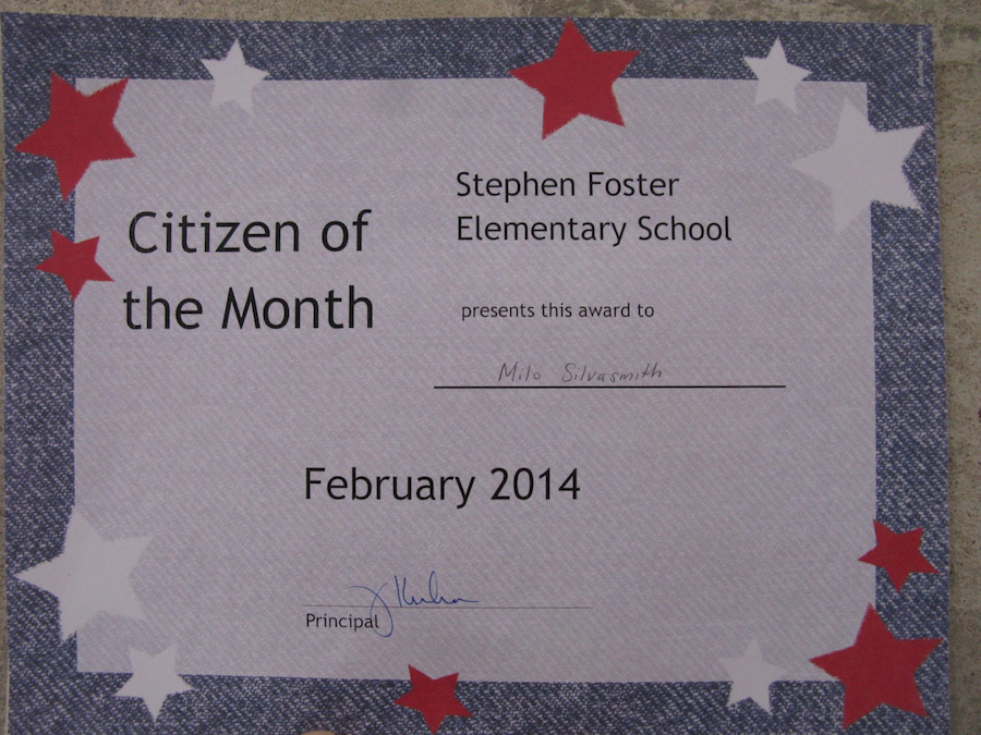citizen of the month