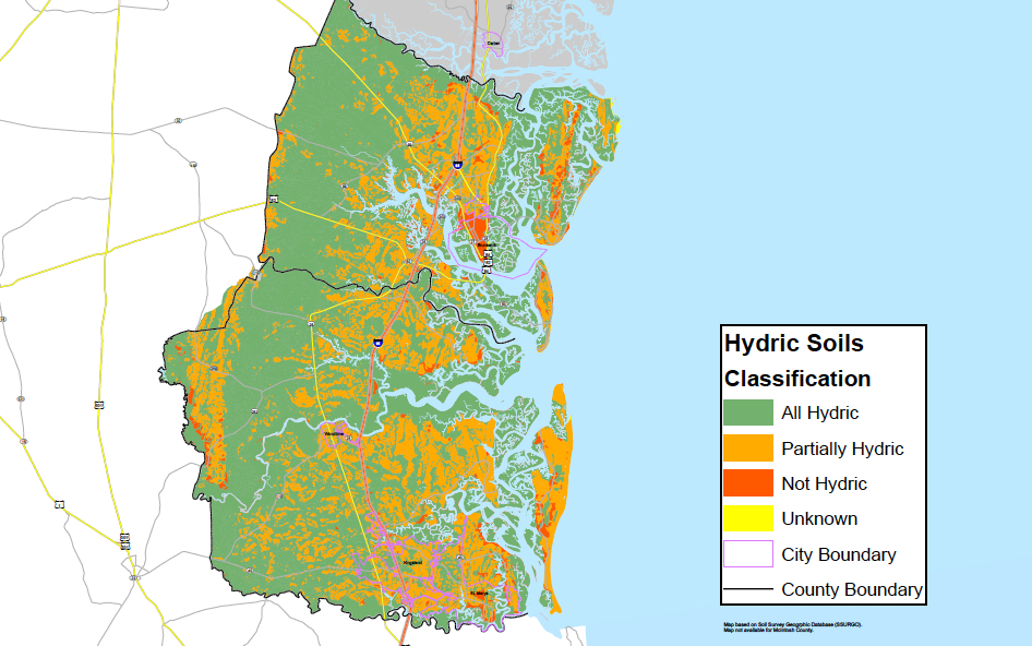 Hydric map