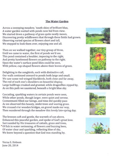 water garden poem