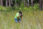 7574 My daughter Kathy photographing in a field of wildflowers