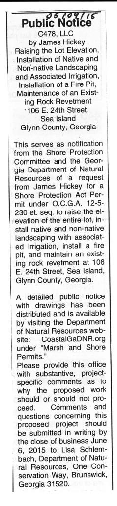 Shore Notice